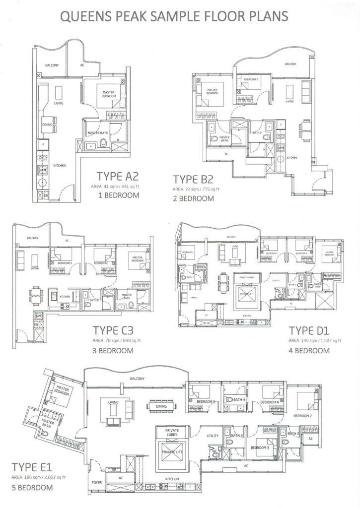 Queens Peak Floor Plans